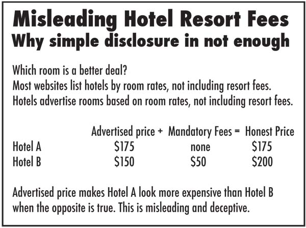 How can travelers avoid paying resort fees?