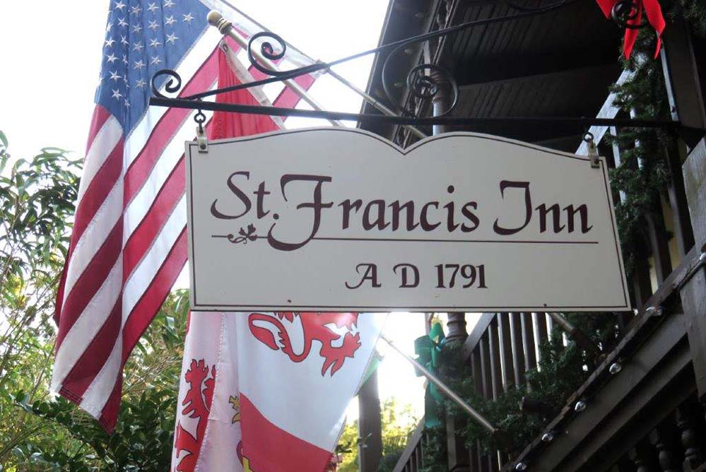 St. Augustine's St. Francis Inn — Sleep with a lovers ghost