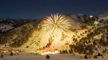 A ski resort New Year's Eve