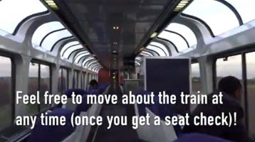 Travelers United video — Travel on the train