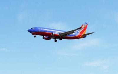 Southwest Airlines B737 landing at Philadelphia International Airport. Copyright © 2018 NSL Photography. All Rights Reserved.