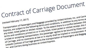UA's Contract of Carriage — still unchanged since Dr. Dao beating