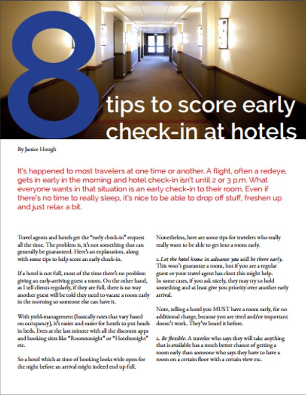 Learn The Travel Secrets To Get Yourself Checked In Early