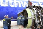 NTSB examining failed engine of Southwest Flight 1380 - Image courtesy of NTSB
