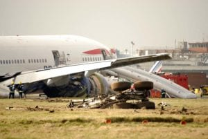 how to evacuate a plane