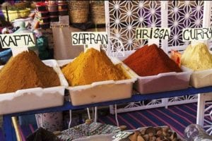 TSA poster rule Marrakech medina spice shop Copyright © 2018 NSL Photography. All Rights Reserved.