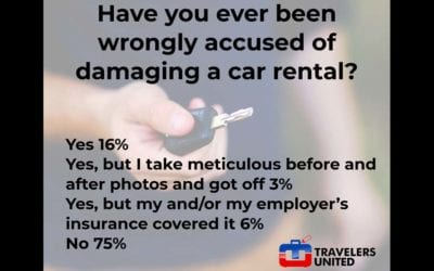 Can travelers avoid unjust rental car damage charges?