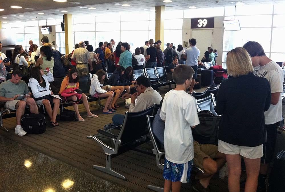 For airline travelers, every day is like the 4th of July