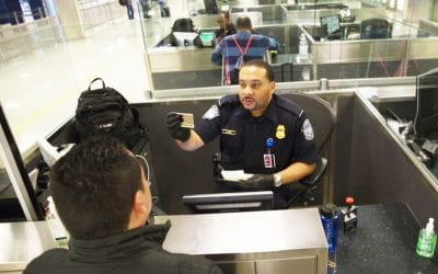 IAD Customs and Border Protection interview (Image courtesy CBP)