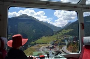 Swiss railroad travels
