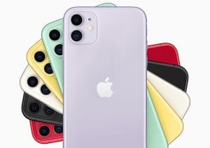 iPhone 11, image courtesy of Apple Corporation