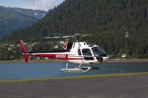 Heliport at Juneau, Alaska helicopter tour to four glaciers. Copyright © 2020 NSL Photography. All Rights Reserved.