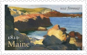 Maine statehood stamp
