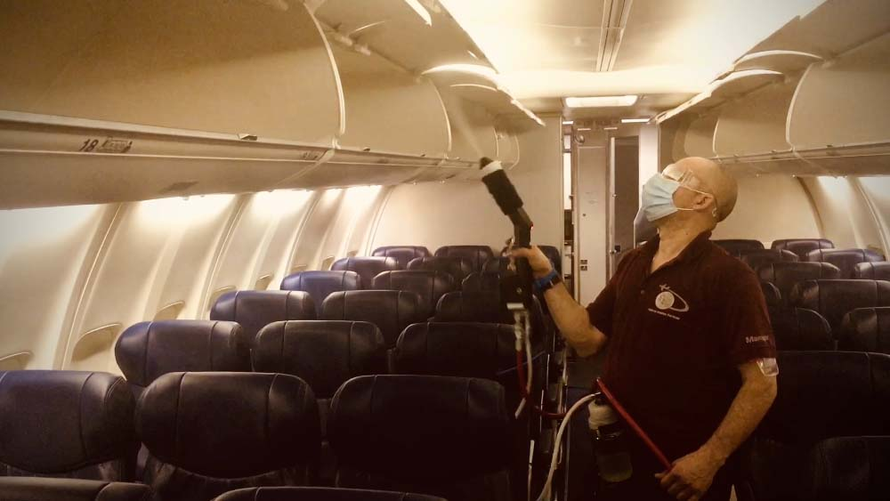 Are airline disinfectants safe for humans?