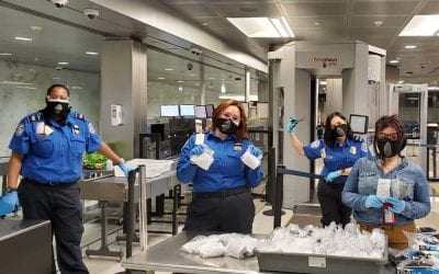 TSA wearing masks at EWR
