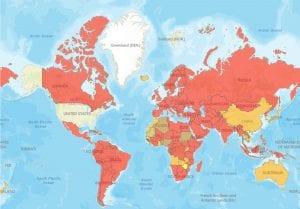 international COVID travel ban